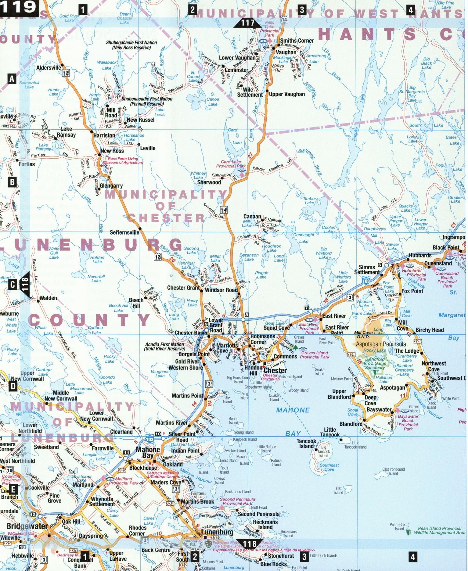 Halifax And Mahone Bay - Us navy map mahone bay ns