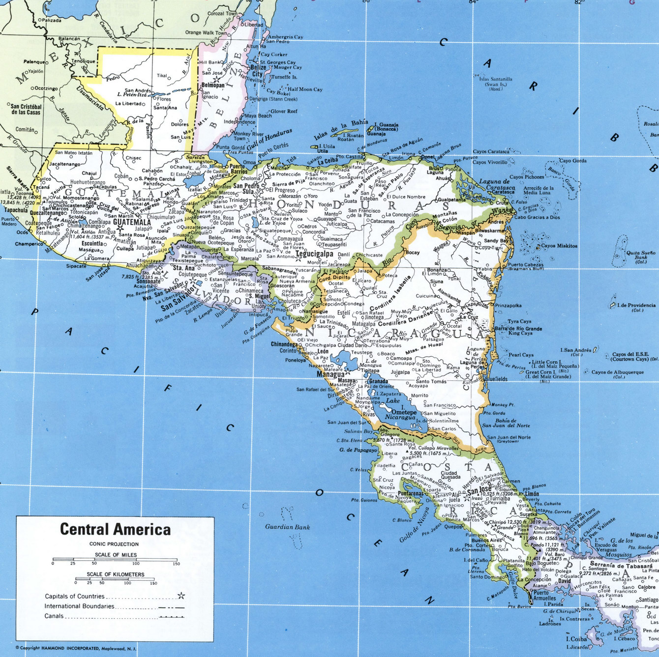Map Of Central America - Maps of central america