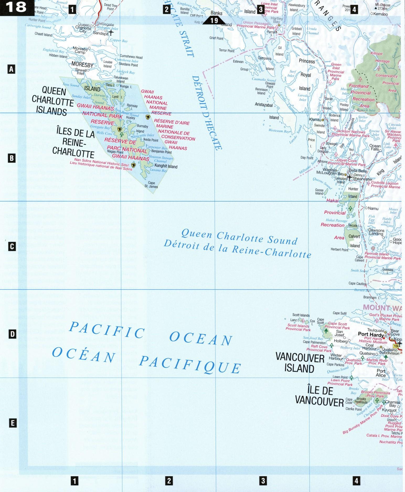 Pacific Coast BC - Map of us pacific coast