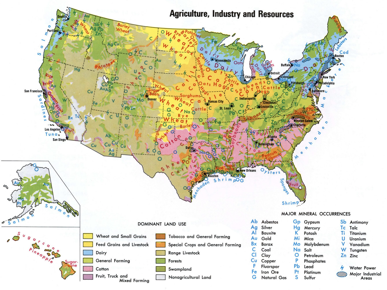 Natural Resources Of USA - Natural resources map of us