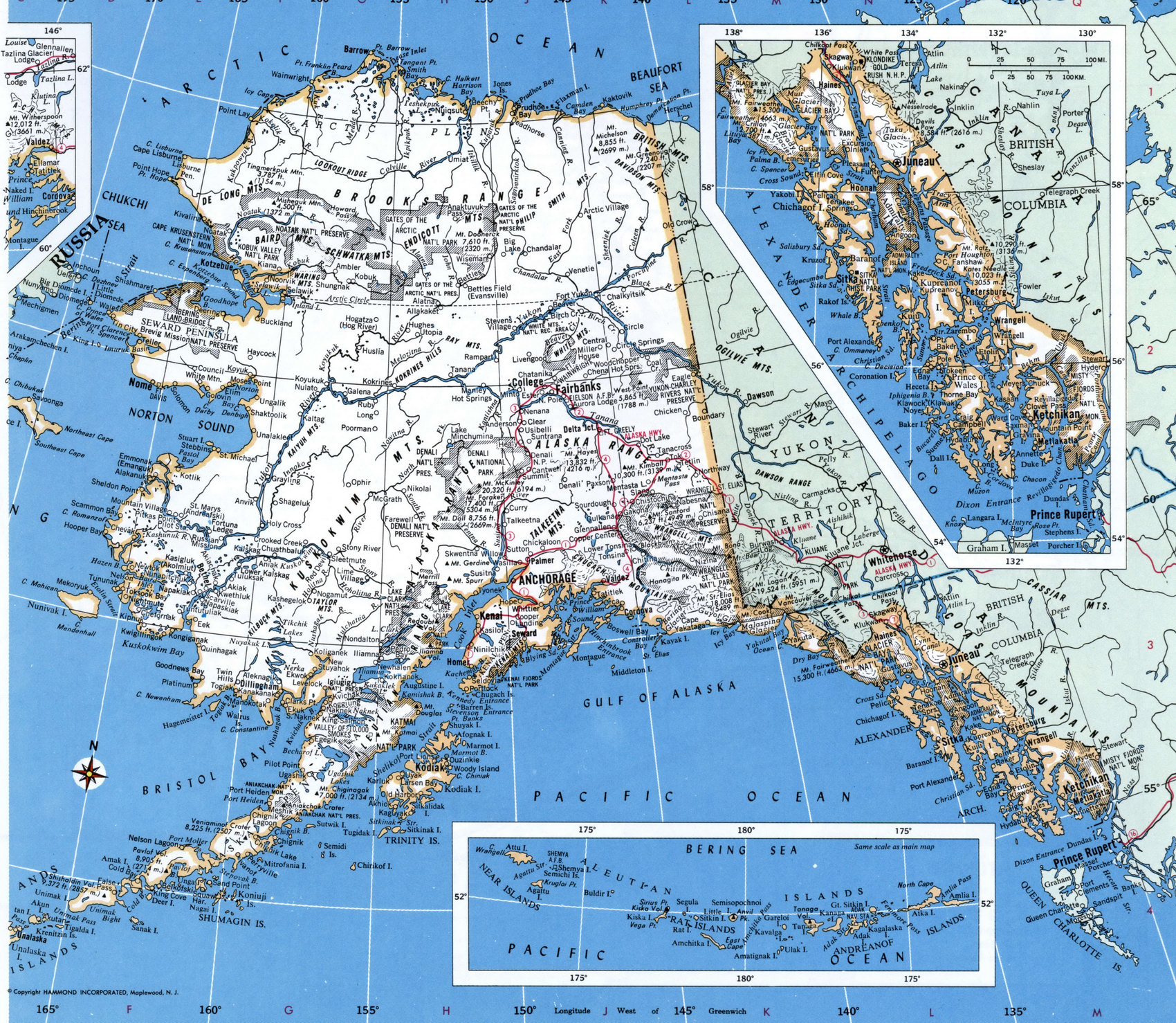 Alaska County - Alaska map with cities