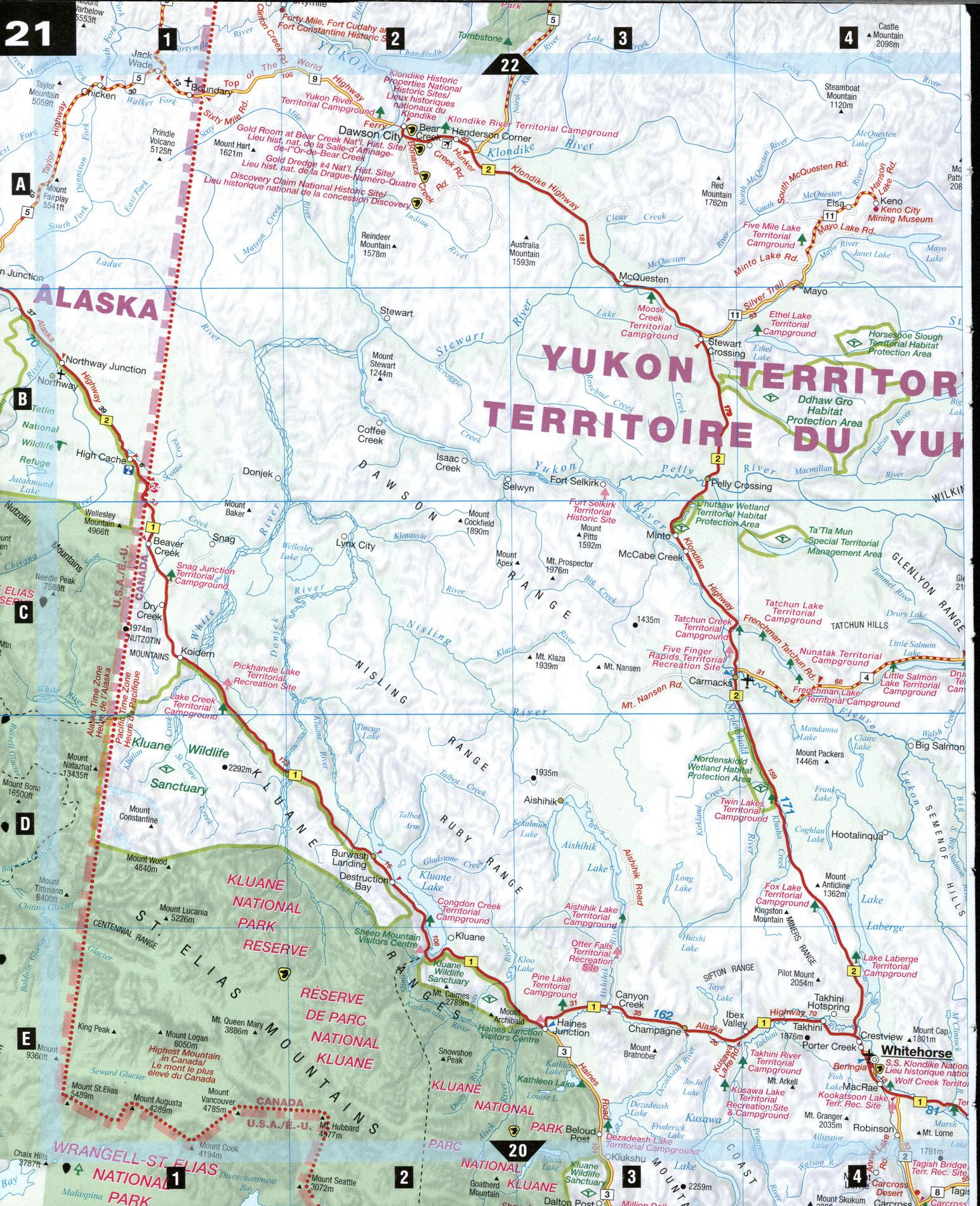 Southern yukon map of southern yukon gumiabroncs Gallery