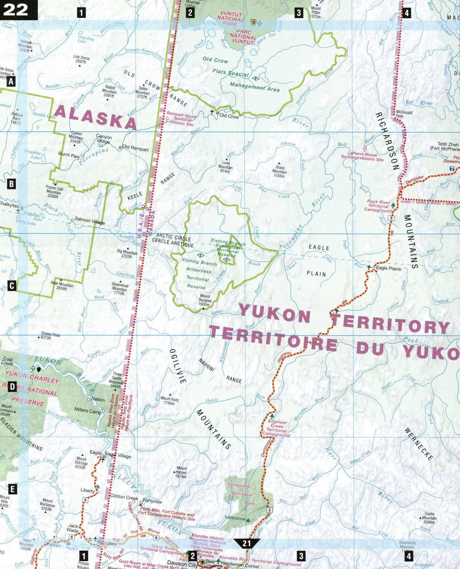 Northern yukon map of northern yukon gumiabroncs Gallery
