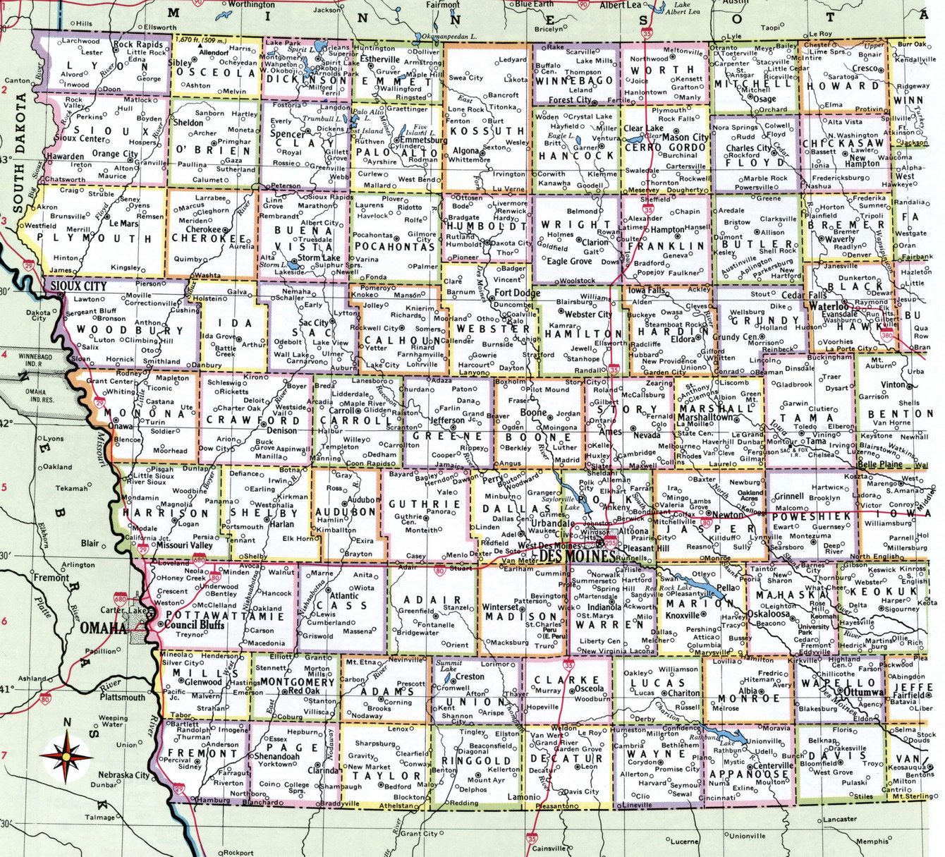 Iowa County Map