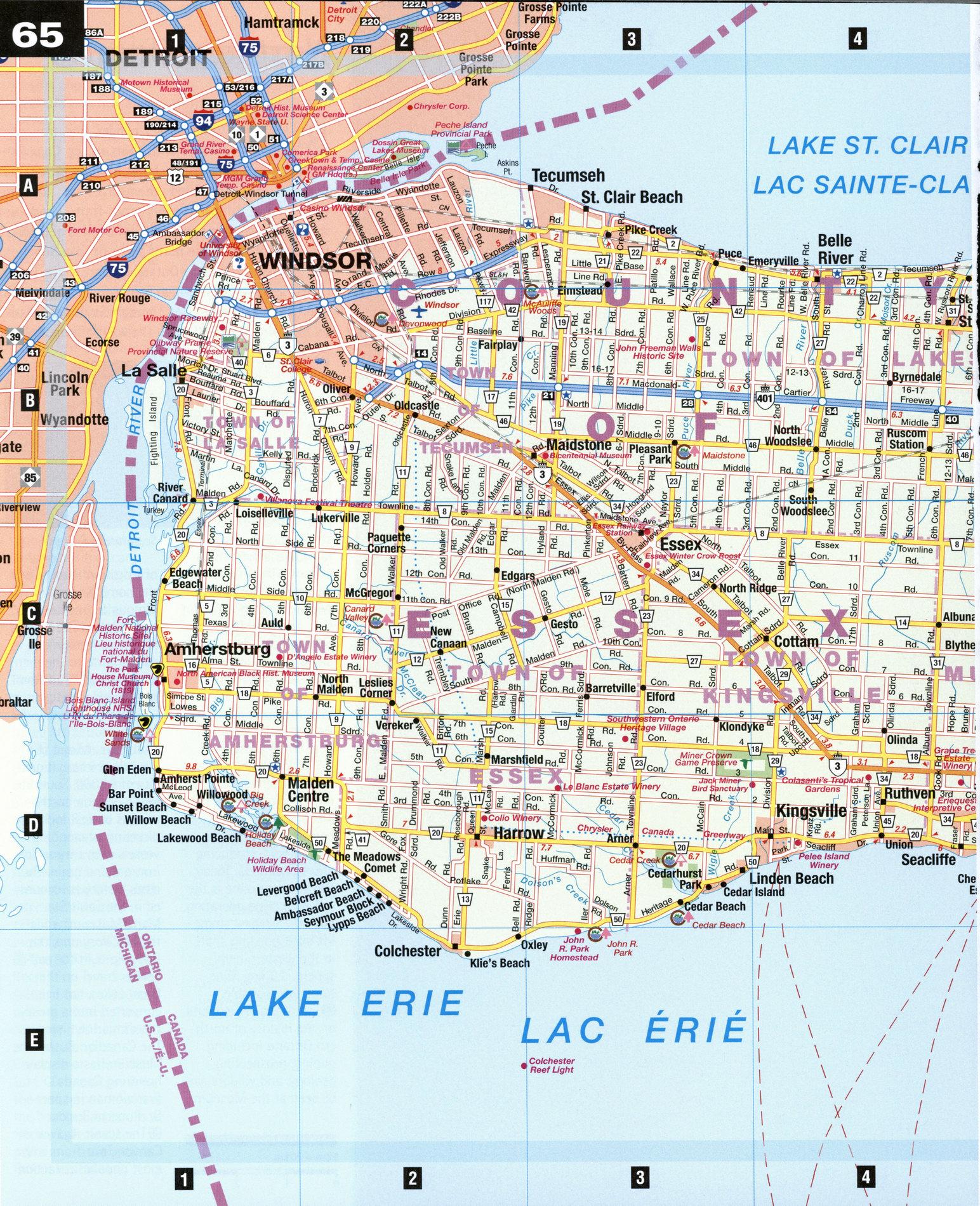 windsor essex wineries map