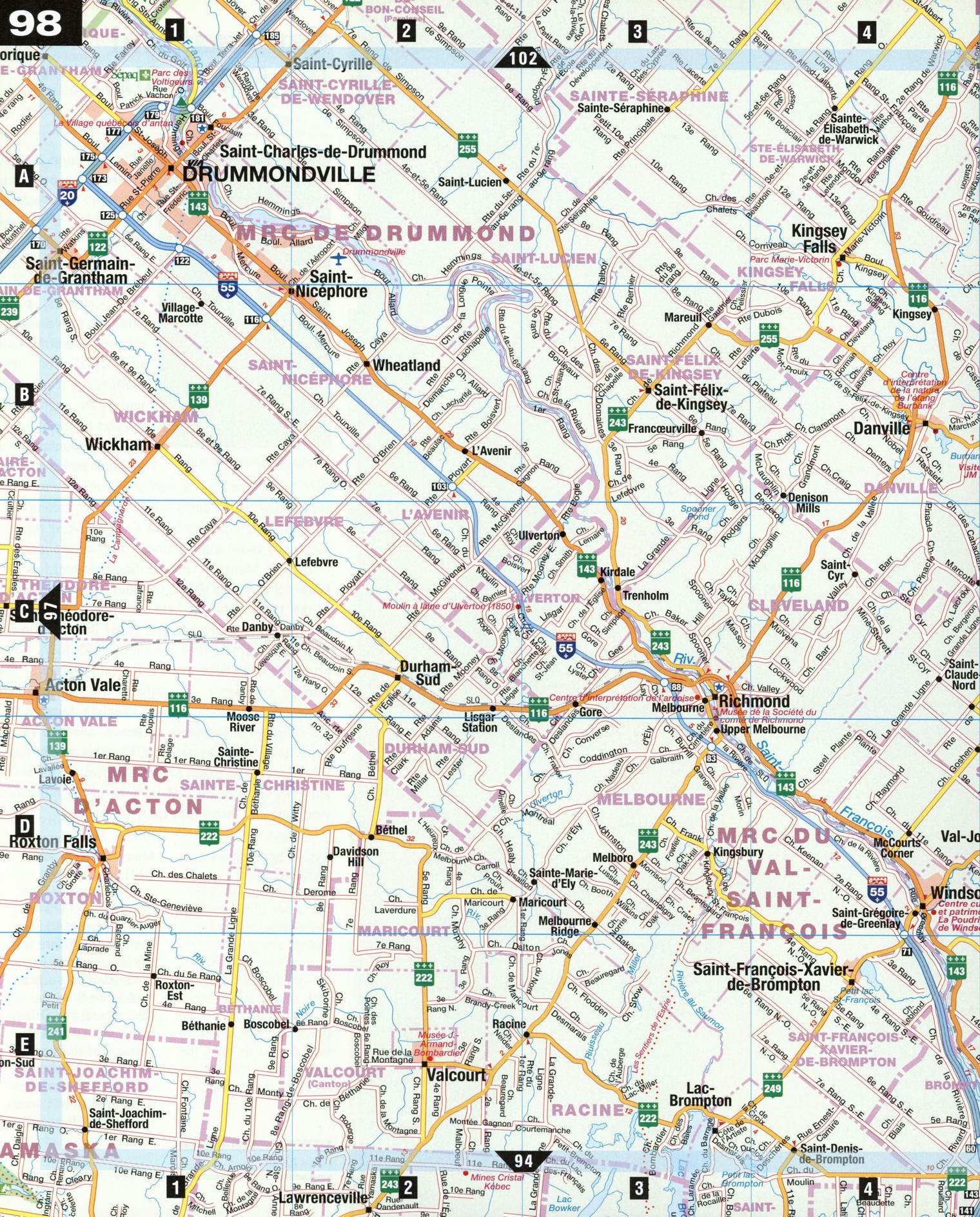 Drummondville and Centre-du-Quebec on belgium highway map, seattle highway map, portland highway map, france highway map, japan highway map, england highway map, italy highway map, miami highway map, appalachian mountains highway map, cincinnati highway map, north america highway map, new zealand highway map, romania highway map, portugal highway map, cape breton island highway map, paris highway map, delaware highway map, houston highway map, nashville highway map, bc highway map,